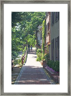 Georgetown Canal Walk Framed Print