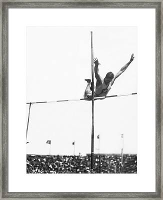 Georgetown Decathlon Star Framed Print by Underwood Archives