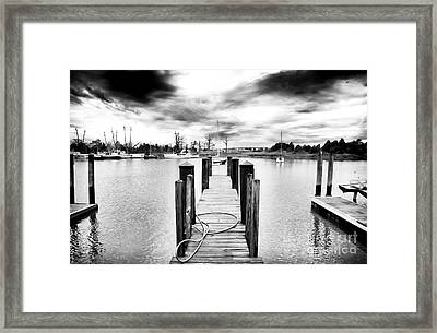 Georgetown Dock Framed Print by John Rizzuto