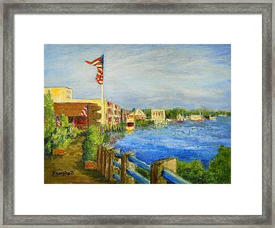 Georgetown Harbor Framed Print by Cecelia Campbell
