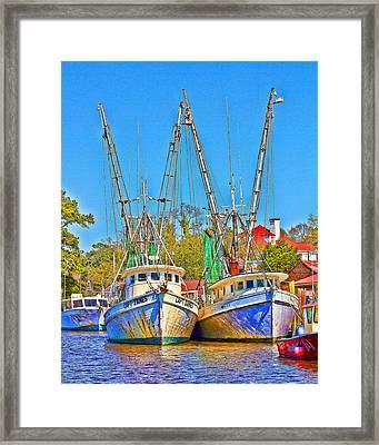 Georgetown Shrimpers Framed Print by Bill Barber