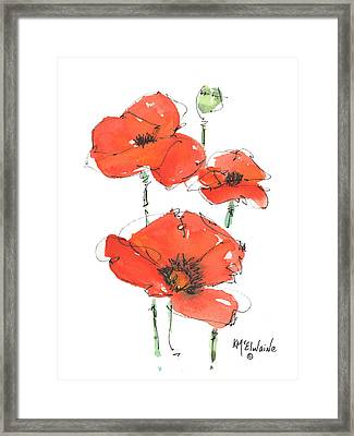 Georgetown Texas The Red Poppy Capital Framed Print by Kathleen McElwaine