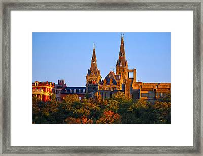 Georgetown University Framed Print by Mitch Cat