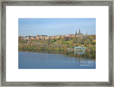 Georgetown University Neighborhood Framed Print