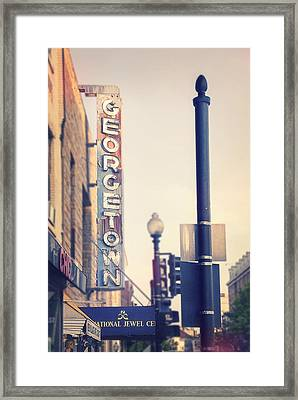 Georgetown U. S. A. Framed Print by Nicola Nobile