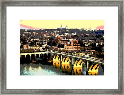 Georgetown Washington Dc Framed Print by Charles Shoup