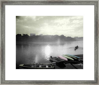 Georgetown Waterfront Framed Print by Jan W Faul