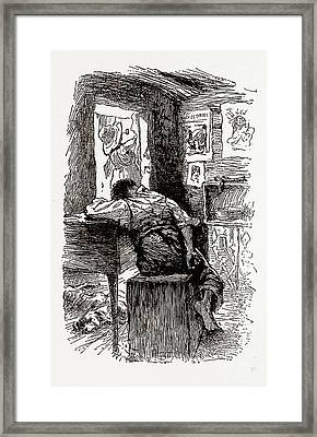 Georgia, African-american  Cabin, 1880, 19th Century Framed Print by Litz Collection
