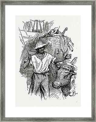 Georgia, African-american Drivers, 1880, 19th Century Framed Print by Litz Collection