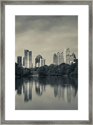 Georgia, Atlanta, City Skyline Framed Print