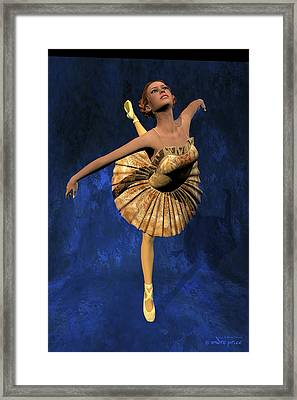 Georgia - Ballerina Portrait Framed Print by Alfred Price