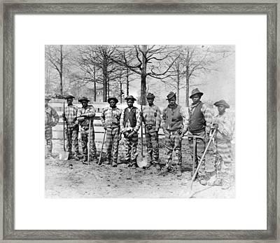 Georgia Chain Gang Framed Print by Granger