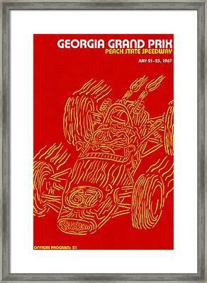 Georgia Grand Prix 1967 Framed Print by Georgia Fowler