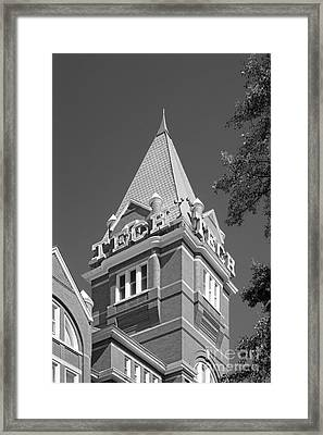 Georgia Institute Of Technology Evans Administration Building Framed Print by University Icons