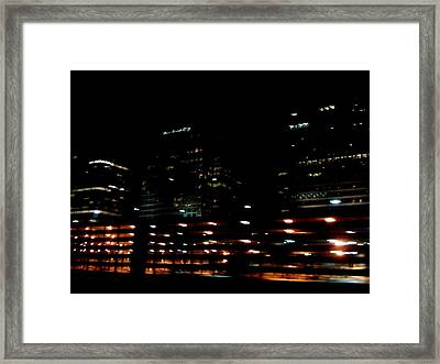 Georgia Lights Framed Print by Robin Lewis