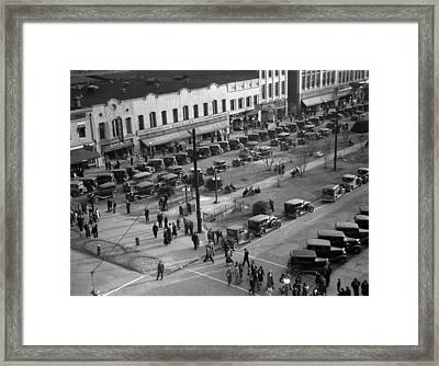 Georgia Main Street, 1936 Framed Print by Granger