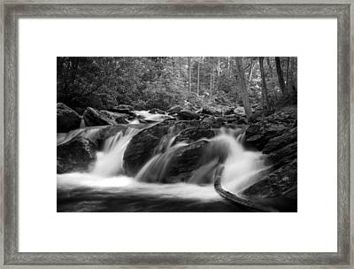 Georgia Mountain Water In Black And White Framed Print