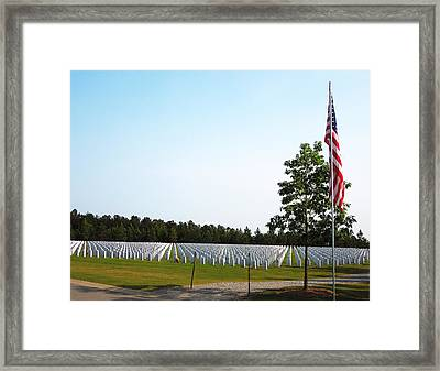 Framed Print featuring the photograph Georgia National Cemetery by Pete Trenholm
