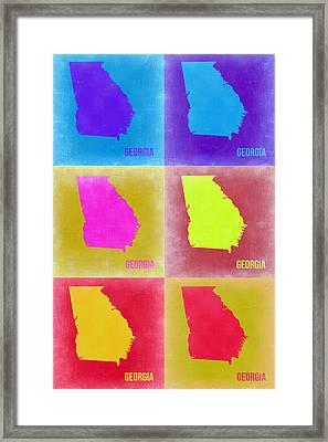 Georgia Pop Art Map 2 Framed Print