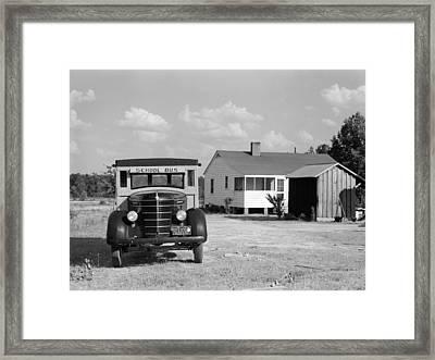 Georgia School Bus, 1941 Framed Print by Granger