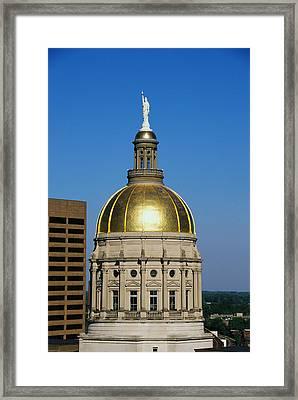 Georgia State Capitol Dome Atlanta Ga Framed Print by Panoramic Images