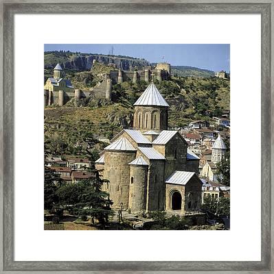 Georgia. Tbilisi. Meteki Church Framed Print by Everett