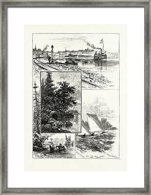 Georgian Bay And The Muskoka Lakes, Scenes About Lake Simcoe Framed Print