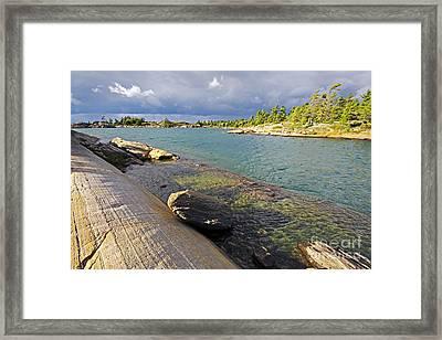 Georgian Bay Brefore Storm Framed Print