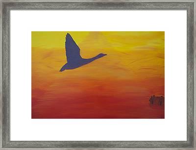 Georgian Bay Sunset Framed Print by Alex Banman