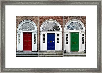 Georgian Doors - Dublin - Ireland Framed Print by Jane McIlroy