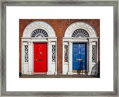 Georgian Doors Framed Print by Inge Johnsson