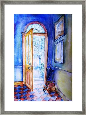 Winter Doorway Ireland    Framed Print by Trudi Doyle