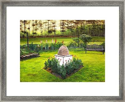 Georgian Herb Garden Framed Print