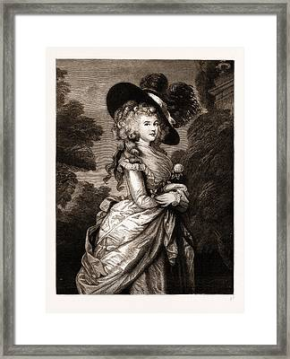 Georgiana, Duchess Of Devonshire The Gainsborough Portrait Framed Print by Litz Collection