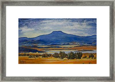 Framed Print featuring the painting Georgia's Mountain by Ron Richard Baviello