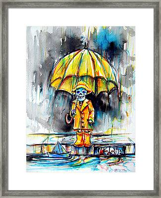 Framed Print featuring the painting Georgie by Heather Calderon
