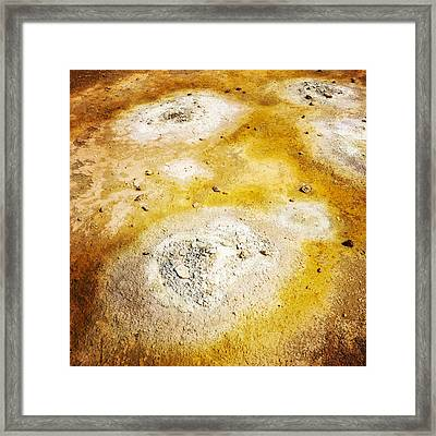 Geothermal Area Detail Iceland Framed Print