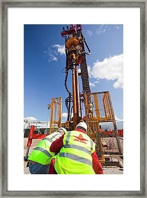 Geothermal Energy Project Framed Print