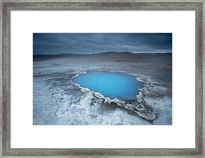 Geothermal Pool Iceland Framed Print by Mart Smit