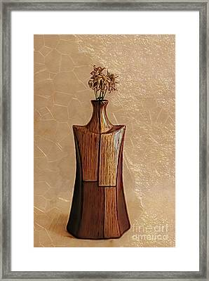 Geovase - 010901g Framed Print by Variance Collections