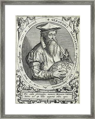 Geradus Mercator Framed Print by British Library