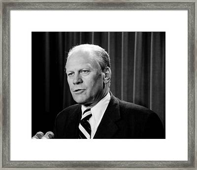 Gerald R Ford Framed Print by Benjamin Yeager