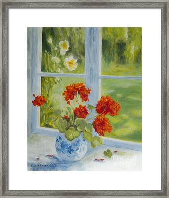 Geranium Morning Light Framed Print
