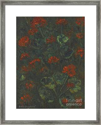 Geraniums Framed Print by Celestial Images