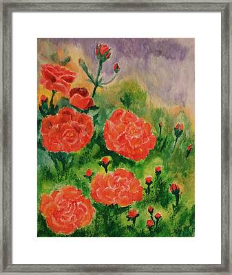 Framed Print featuring the painting Geraniums by Christy Saunders Church