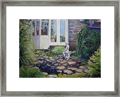 Geraniums In The Window Framed Print