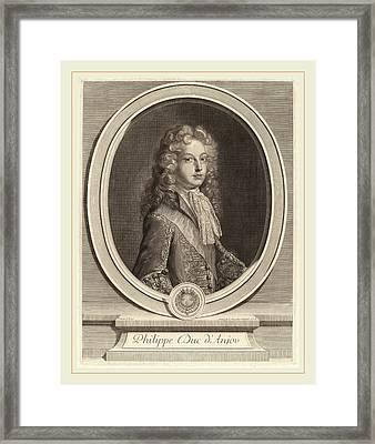 Gerard Edelinck After Francois De Troy Flemish Framed Print by Litz Collection