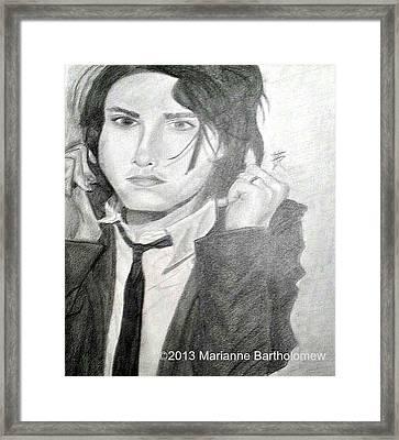 Gerard Way Framed Print by Marianne Bartholomew