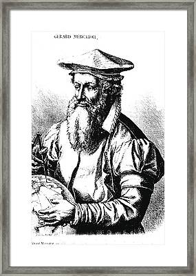 Gerardus Mercator Framed Print by Collection Abecasis