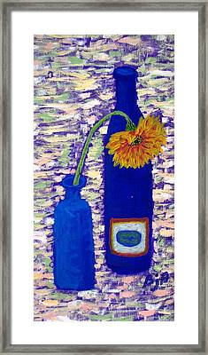 Framed Print featuring the painting Gerbera And Zinfandel by Brenda Pressnall